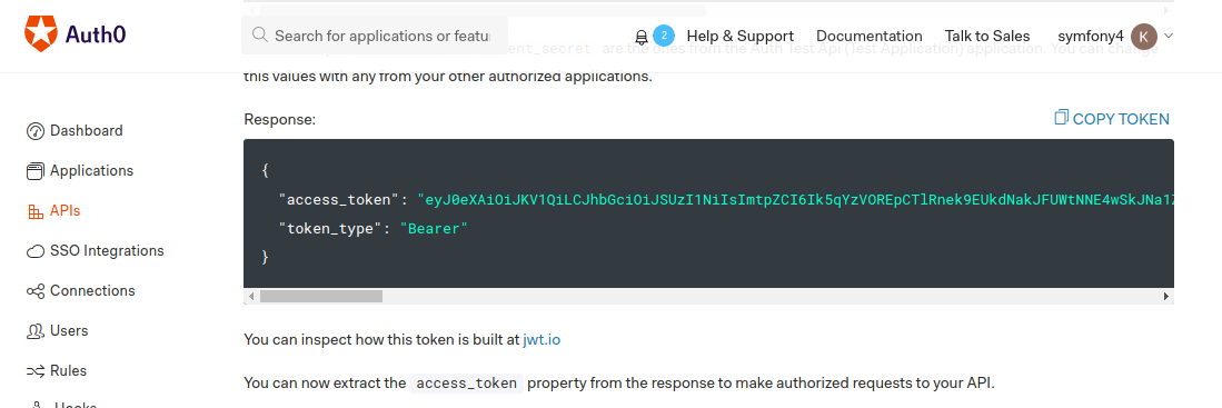 Authorize Auth0 User In Symfony4