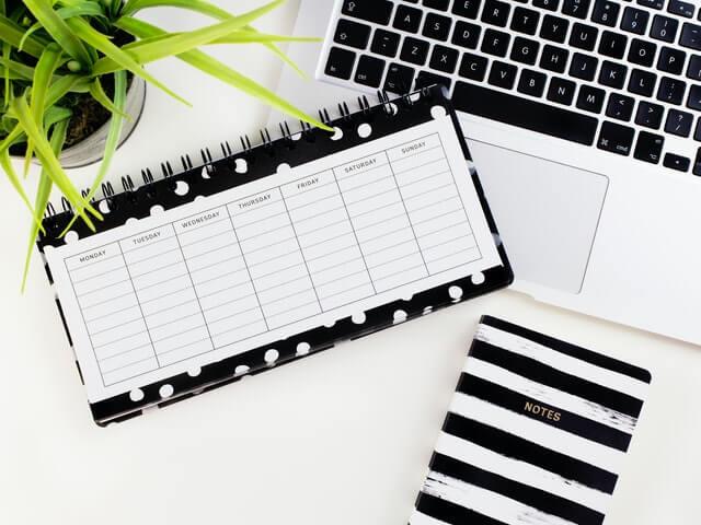 Remote work schedule image